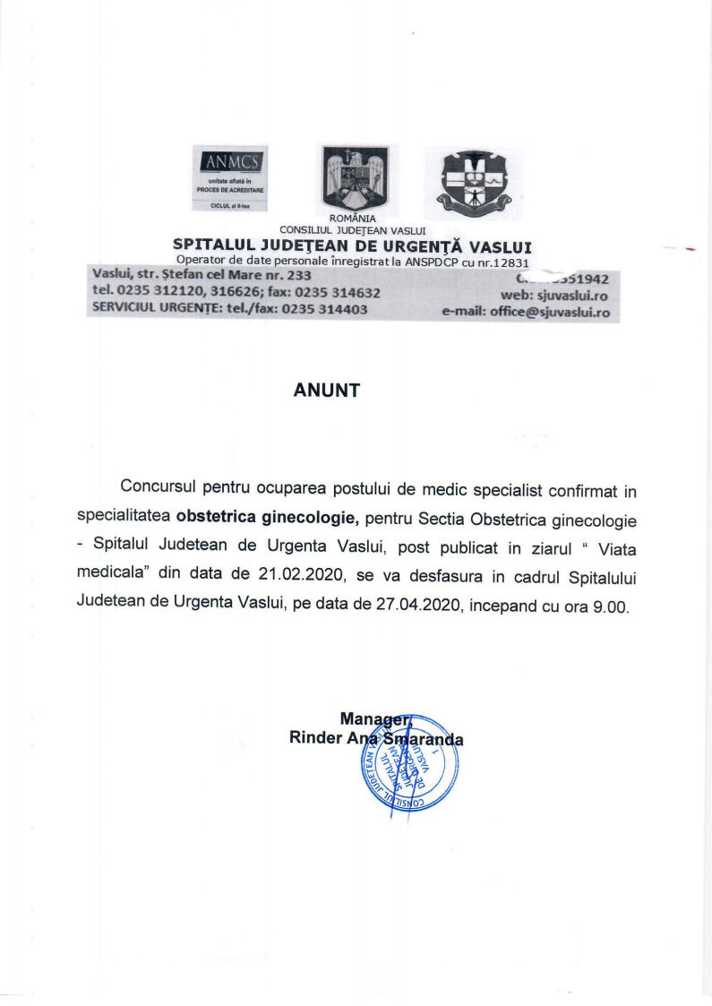 Concurs medic specialist- Sectia Obstetrica- Ginecologiejpg Page1