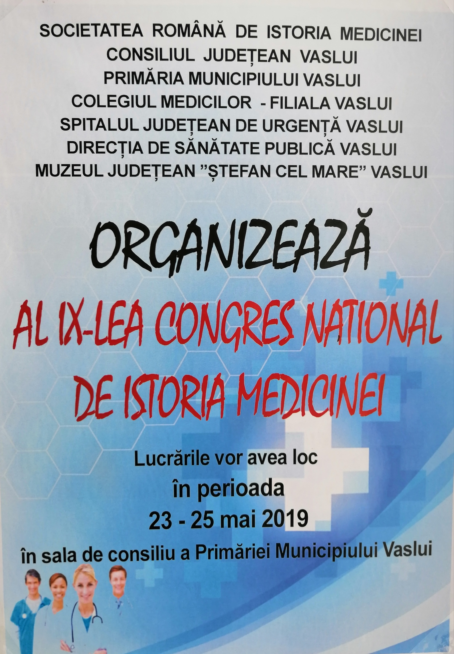 Congresul National de Istoria Medicinei 23-25 Mai 2019